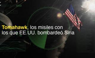 Tomahawk, los misiles con los que EE.UU. bombardeó Siria