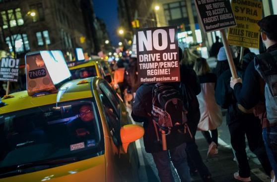 Protestas en el mundo contra bombardeo de EE.UU. en Siria