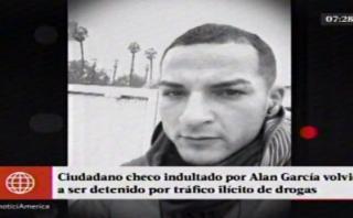 Tráfico de drogas: cae checo conmutado por Alan García