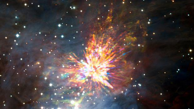 Astrónomos captan el nacimiento de una estrella