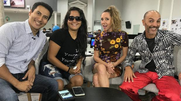 Katia, Saskia, Armando y Lelé en divertida entrevista en vivo