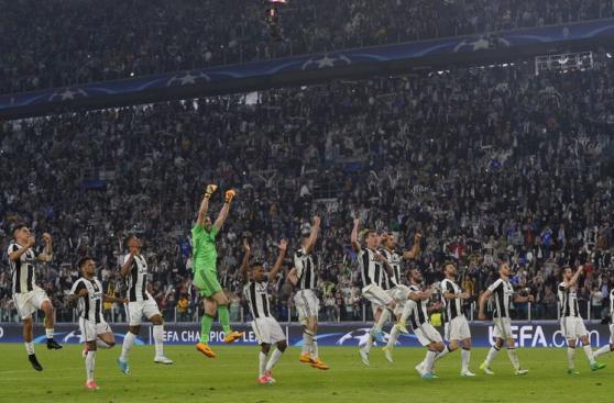 Juventus: alegría de club italiano tras triunfo ante Barcelona