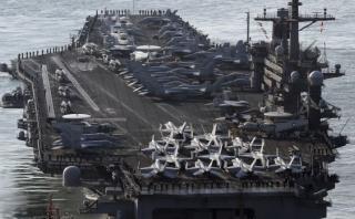 ¿Qué capacidad de armamento tiene la flota Carl Vinson? [BBC]