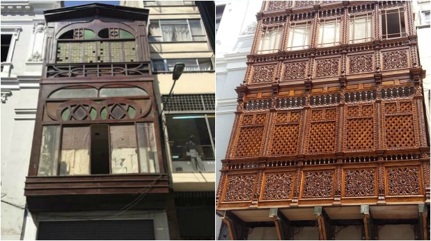 Denuncian que obra de reemplazo carece de valor histórico. Balcón tenía más de 100 años de antigüedad.