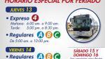Metropolitano cambiará de horario y rutas por Semana Santa - Noticias de no laborables