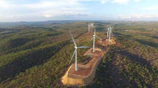 Parque eólico de Casa dos Ventos, en el noreste de Brasil. (Foto: Bloomberg)