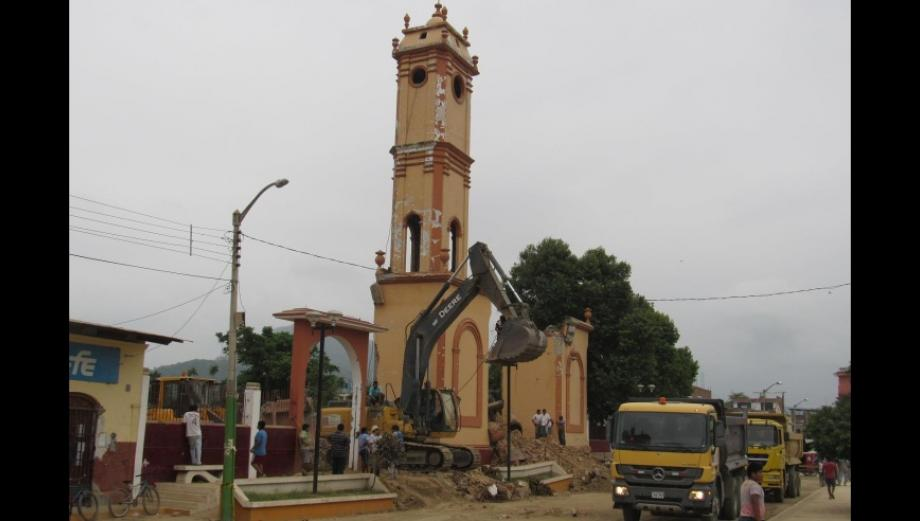 Así se terminó de destruir la histórica iglesia de Olmos