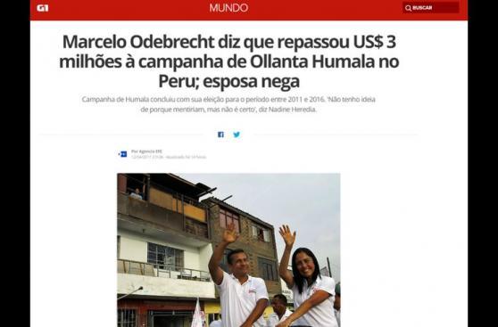 Escándalo Humala - Odebrecht da la vuelta al mundo