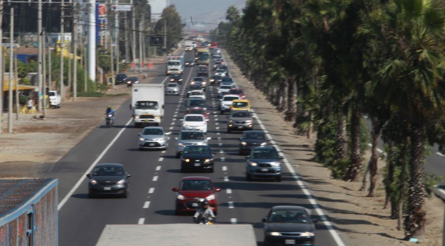 Semana Santa: gran congestión vehicular se registra en la Panamericana Sur