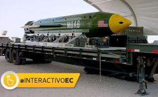 MOAB, la enorme bomba que EE.UU usó en Afganistán [INTERACTIVO]