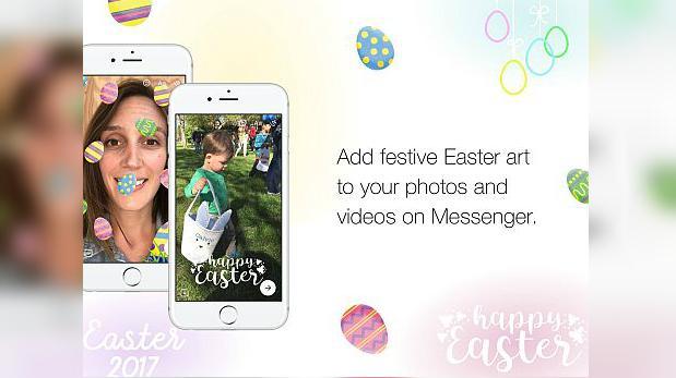 Facebook Messenger lanzó filtros para celebrar las pascuas