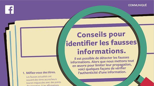 Facebook publicita en Francia cómo identificar noticias falsas