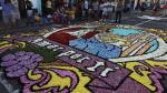 Surco realizó concurso de alfombras florales por Semana Santa - Noticias de jose rosales