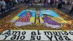 Surco realizó concurso de alfombras florales por Semana Santa - Noticias de saenz pena