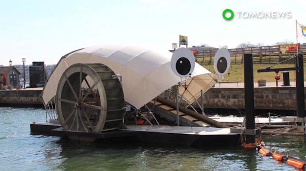 "YouTube: ""Mr. Trash Wheel"", el monstruo come basura"