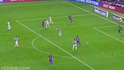 Barcelona: presión de Luis Suárez y gol de Messi sin arquero