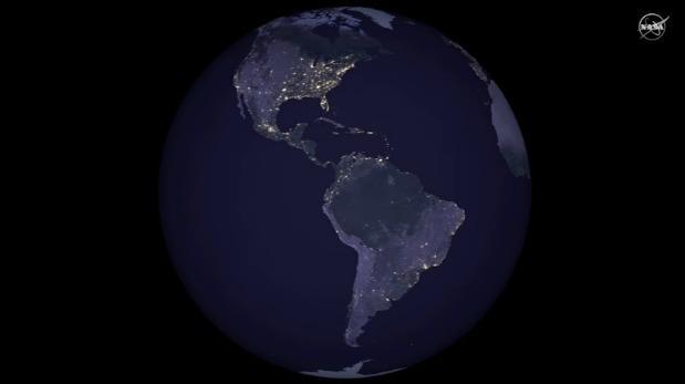 Impresionantes imágenes de la NASA muestran la Tierra de noche