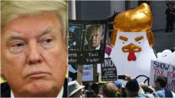 Trump afirma que protestas en su contra fueron pagadas