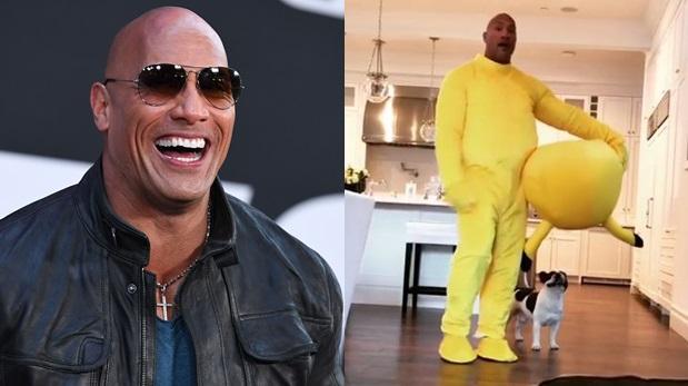 Dwayne Johnson, La Roca, se disfraza de Pikachu para su hija
