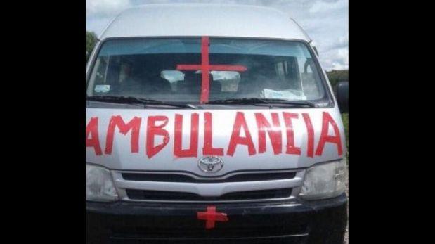 ¡Insólito! Partido fue suspendido por ambulancia improvisada
