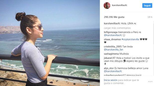 La primera foto de Karol Sevilla en Lima.