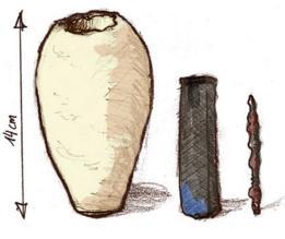 Los tres componentes del misterioso artefacto. (Foto: IRONIE)