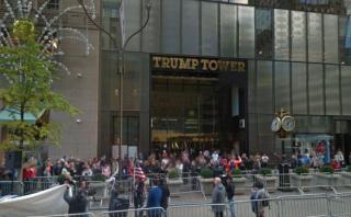 La residencia primaria de Donald Trump vista desde Google Maps