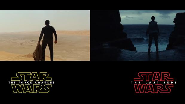 "Comparan tráilers de  ""The Last Jedi"" y ""The Force Awakens"""