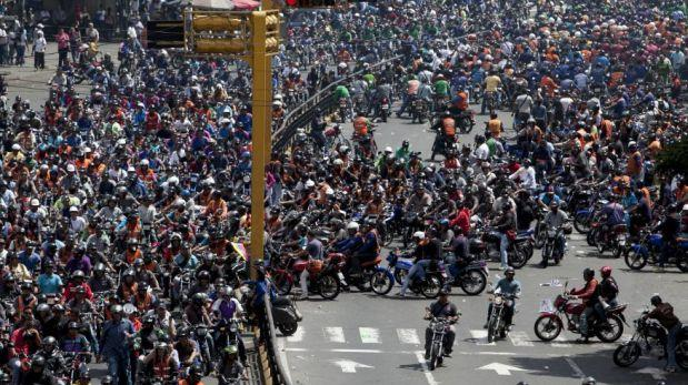 Sesenta mil motociclistas chavistas marcharán el miércoles