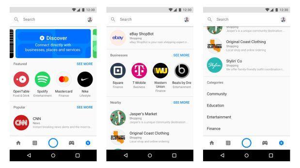 Facebook Messenger agrega extensiones de app y tienda de bots