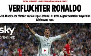 Bayern: prensa alemana maldice a Ronaldo y al árbitro Kassai
