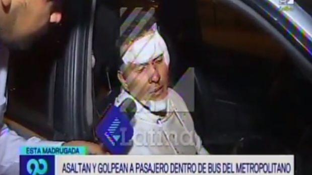 Apuntan con pistola a pasajero dentro de bus e intentan secuestrarlo — Metropolitano