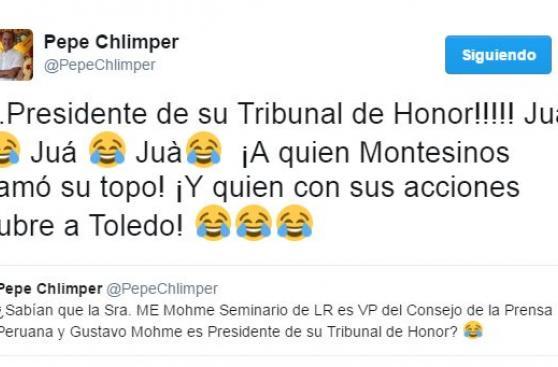 José Chlimper cuestiona al Consejo de la Prensa Peruana