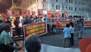 Fiscalía investiga marcha de Movadef en plaza San Martín