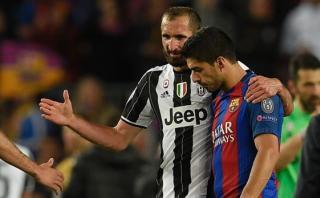 Suárez-Chiellini: la escena que nadie esperaba ver en Camp Nou