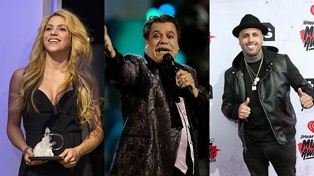 Shakira, Juan Gabriel y Nicky Jam ganarán los Billboard Latinos