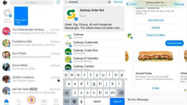 Así puedes pedir tu comida en Facebook Messenger