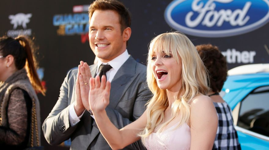 Chris Pratt recibe su estrella en Hollywood