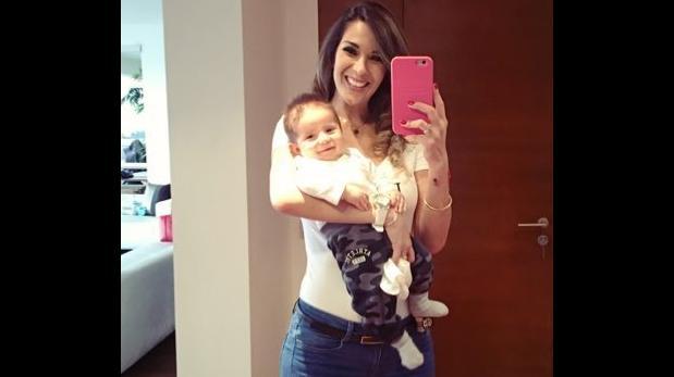 Silvia Cornejo presenta a su hijo, Fabián