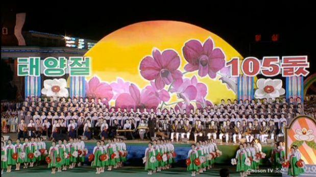Así celebran los 105 años de Kim Il-sung en Corea del Norte