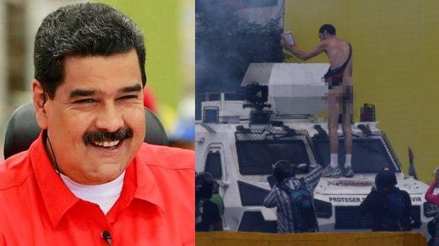 Maduro se burló del joven que protestó desnudo [VIDEO]