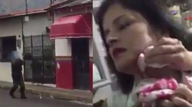 Venezuela: Un policía le disparó dentro de su casa [VIDEO]