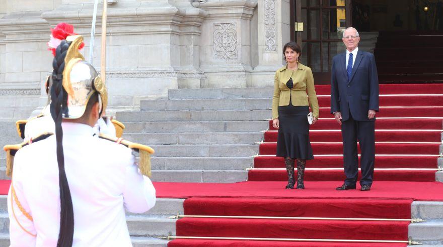 PPK se reunió con presidenta de Suiza en Palacio de Gobierno