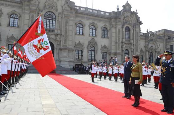 PPK recibió a presidenta de Suiza en Palacio [FOTOS]