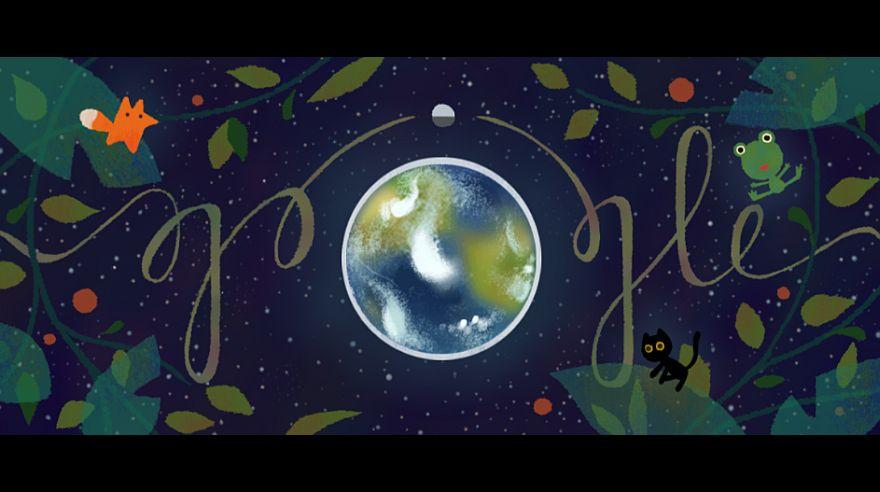 Google llamó a la reflexión con doodle por el Día de la Tierra