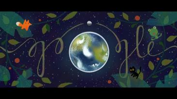 Google: doodle llama a la reflexión por el Día de la Tierra
