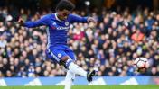 Willian y una gran definición: golazo de tiro libre en FA Cup