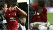 United: Ibrahimovic y Rojo se perderán el resto de la temporada