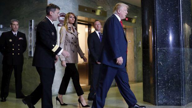 Donald Trump y su esposa Melania. (AP)