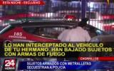 Chorrillos: sujetos armados con metralletas raptan a policía